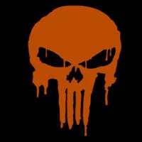 Punisher Skull Pumpkin Punisher Logo Dripping Stoneykins Pumpkin Carving