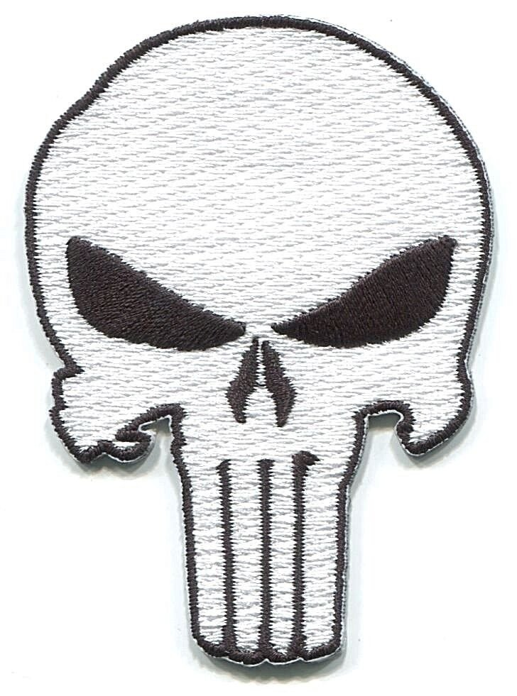 Punisher Skull Pumpkin Punisher Skull Embroidered Iron On Patch Marvel Army