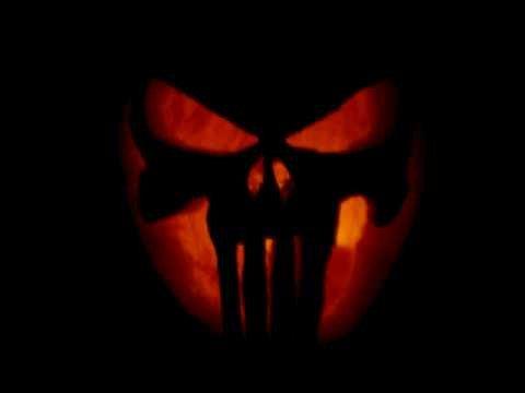 Punisher Skull Pumpkin Punisher Skull Jack O Lantern