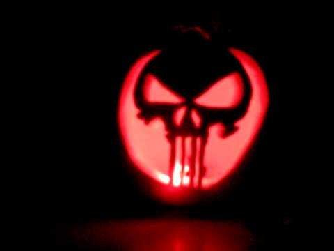 Punisher Skull Pumpkin Punisher Skull Jack O Lantern Pumpkin