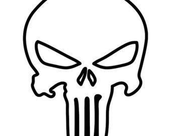 Punisher Skull Pumpkin Punisher Skull Outline