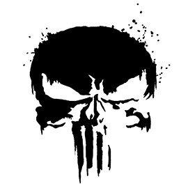 Punisher Skull Pumpkin Punisher Skull Symbol 02 Stencil