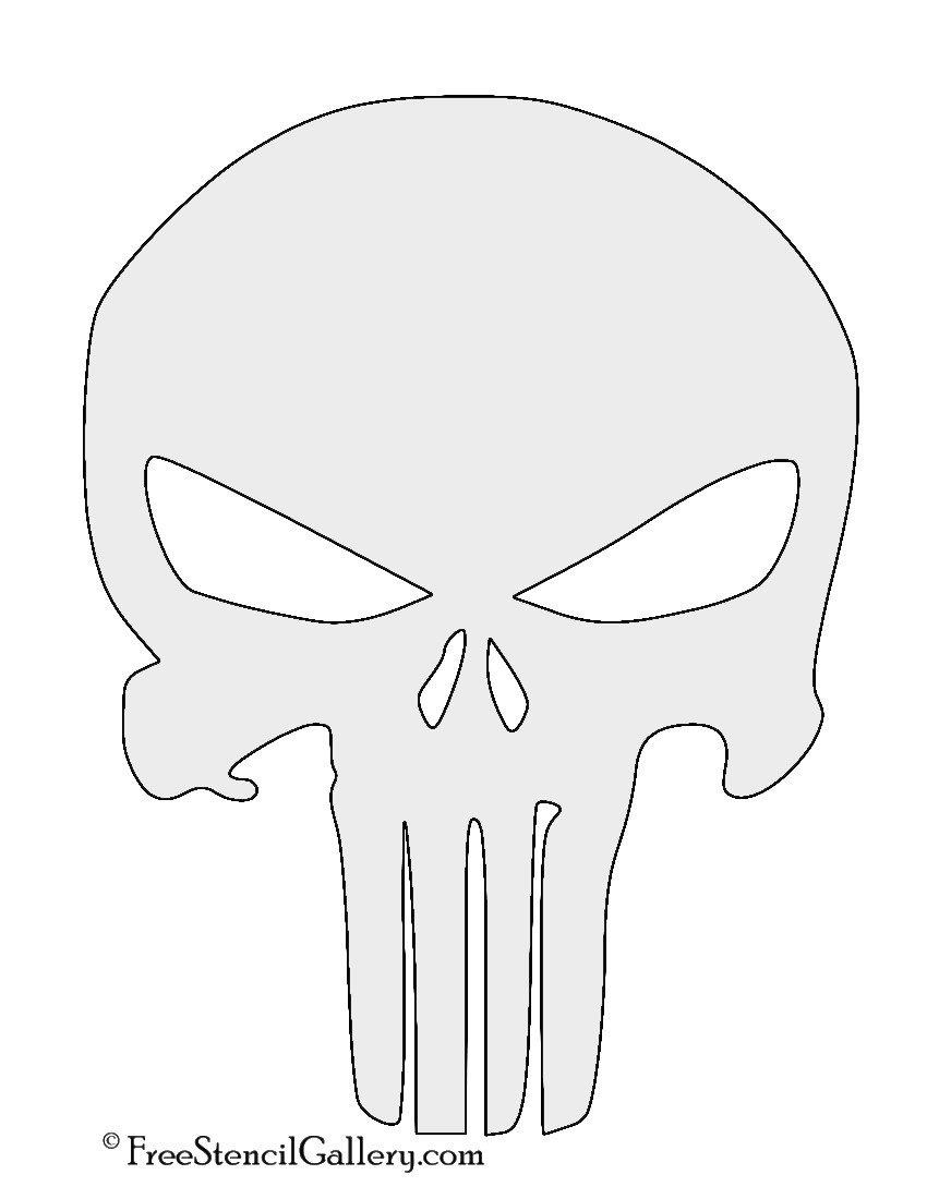Punisher Skull Pumpkin Punisher Skull Symbol Stencil