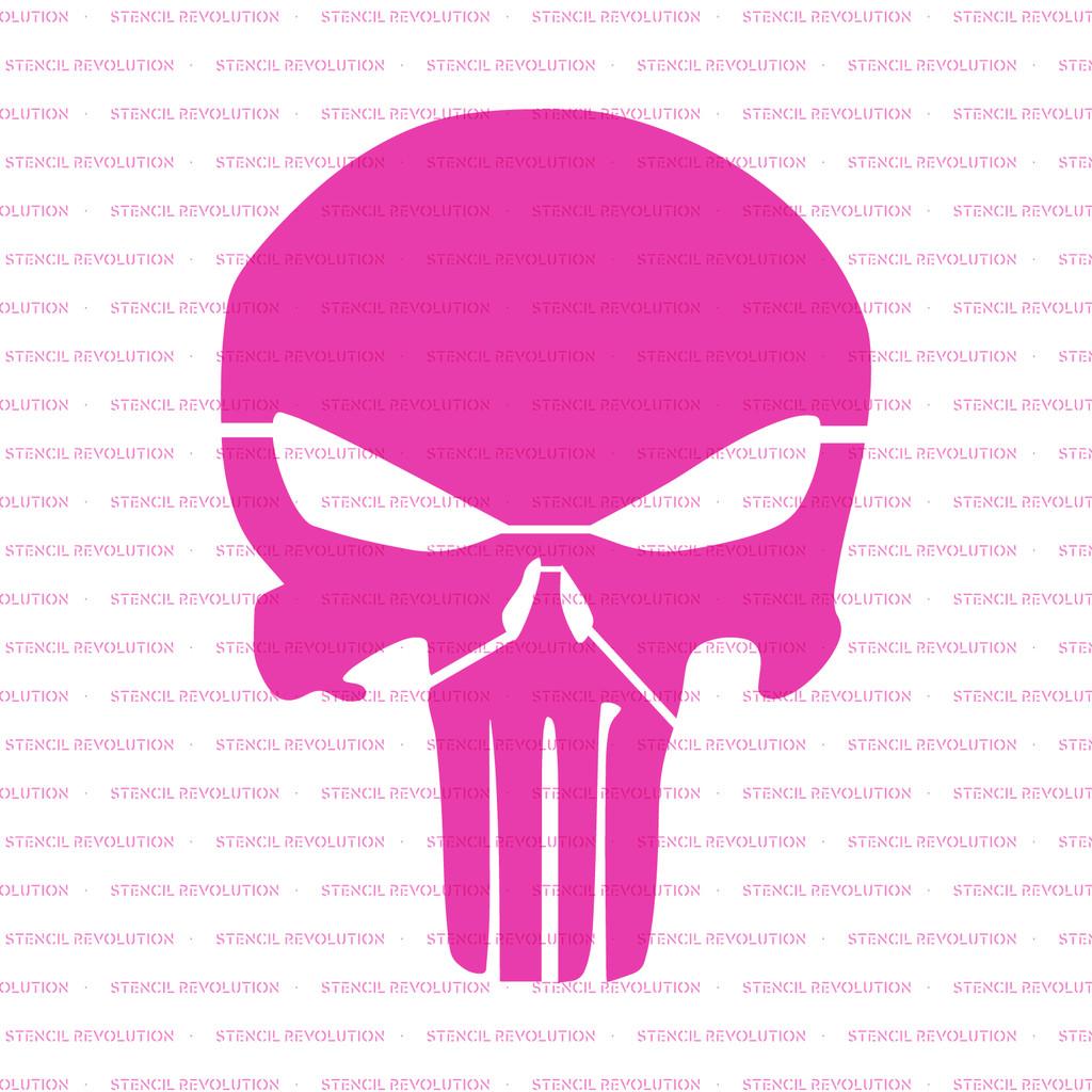 Punisher Skull Pumpkin Punisher Stencil Design On Durable Mylar Reusable Skull