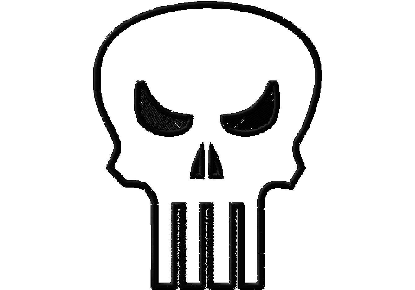 Punisher Skull Pumpkin Sewing and Stenciling for Boys Scattered thoughts Of A