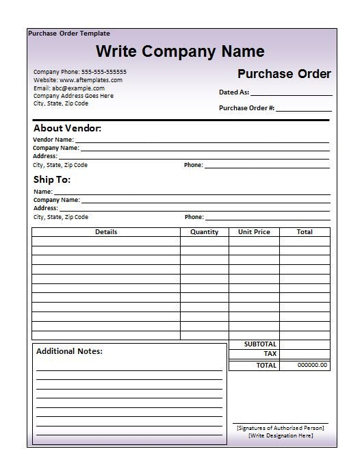 Purchase order Template Excel 39 Free Purchase order Templates In Word & Excel Free