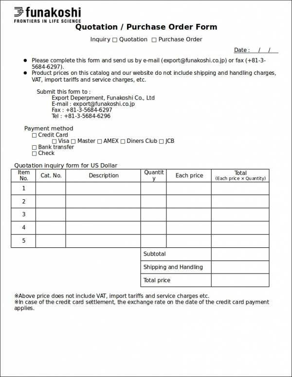 Purchase order Template Google Docs 11 Purchase order Samples & Templates Google Docs Ms