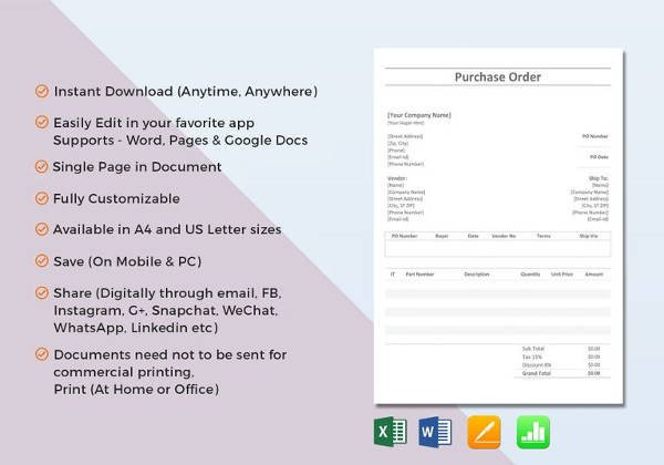 Purchase order Template Google Docs 16 Cake order form Templates
