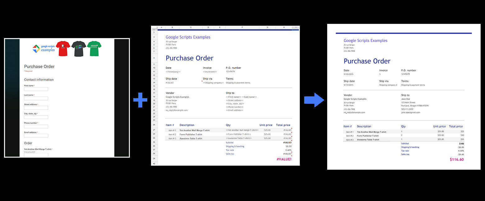 Purchase order Template Google Docs Use form Publisher with New Google Sheets Google Docs