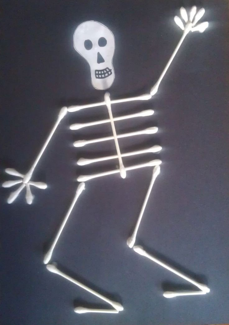 Q Tip Skeleton Head Template 17 Best Ideas About Skeleton Craft On Pinterest