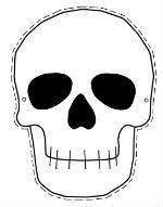 Q Tip Skeleton Head Template Easy Halloween Skeleton Craft M Magazine