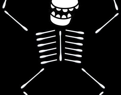 Q Tip Skeleton Head Template How to Make Q Tip Skeletons Holidays