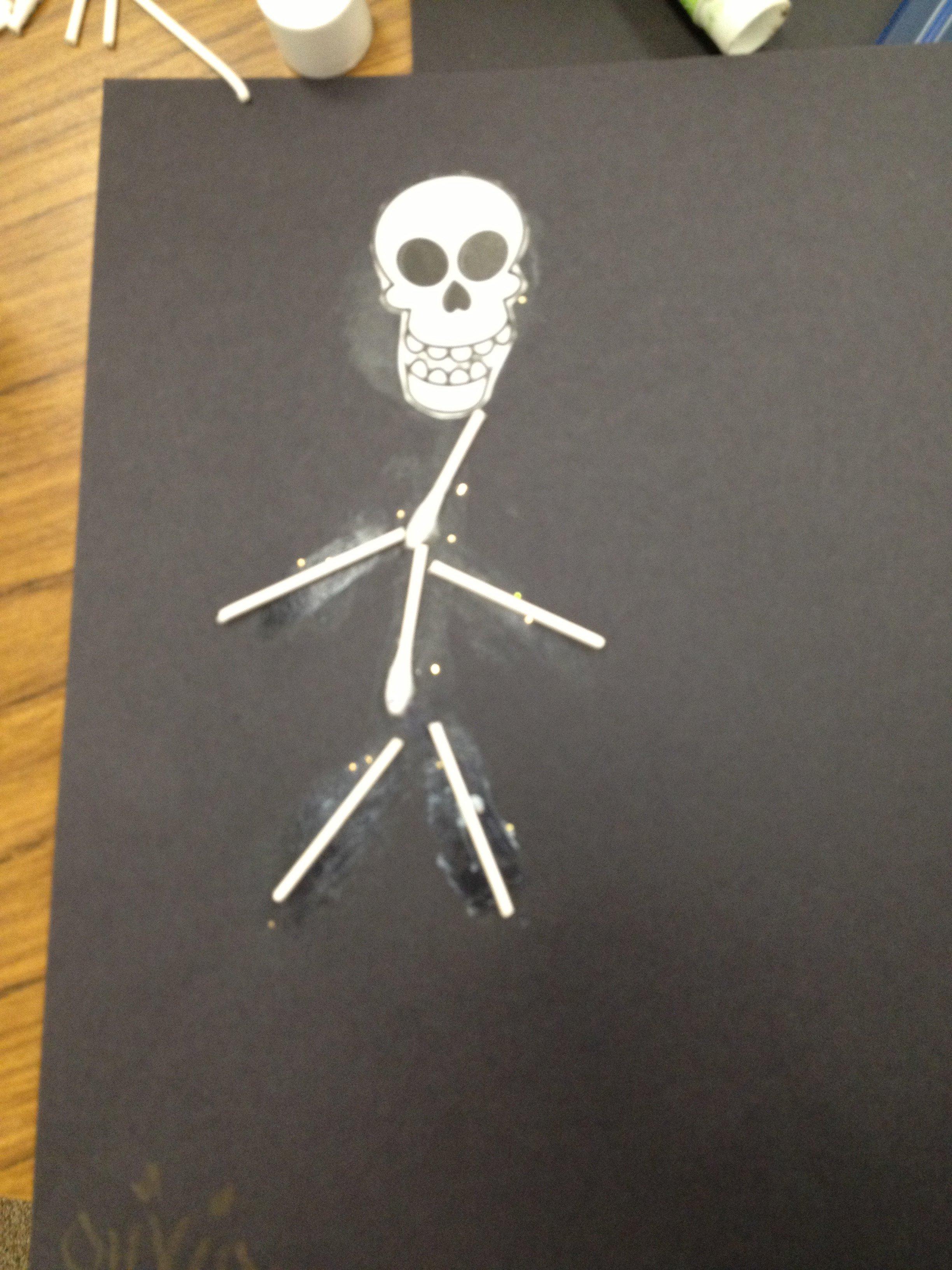 Q Tip Skeleton Head Template Pumpkin Books