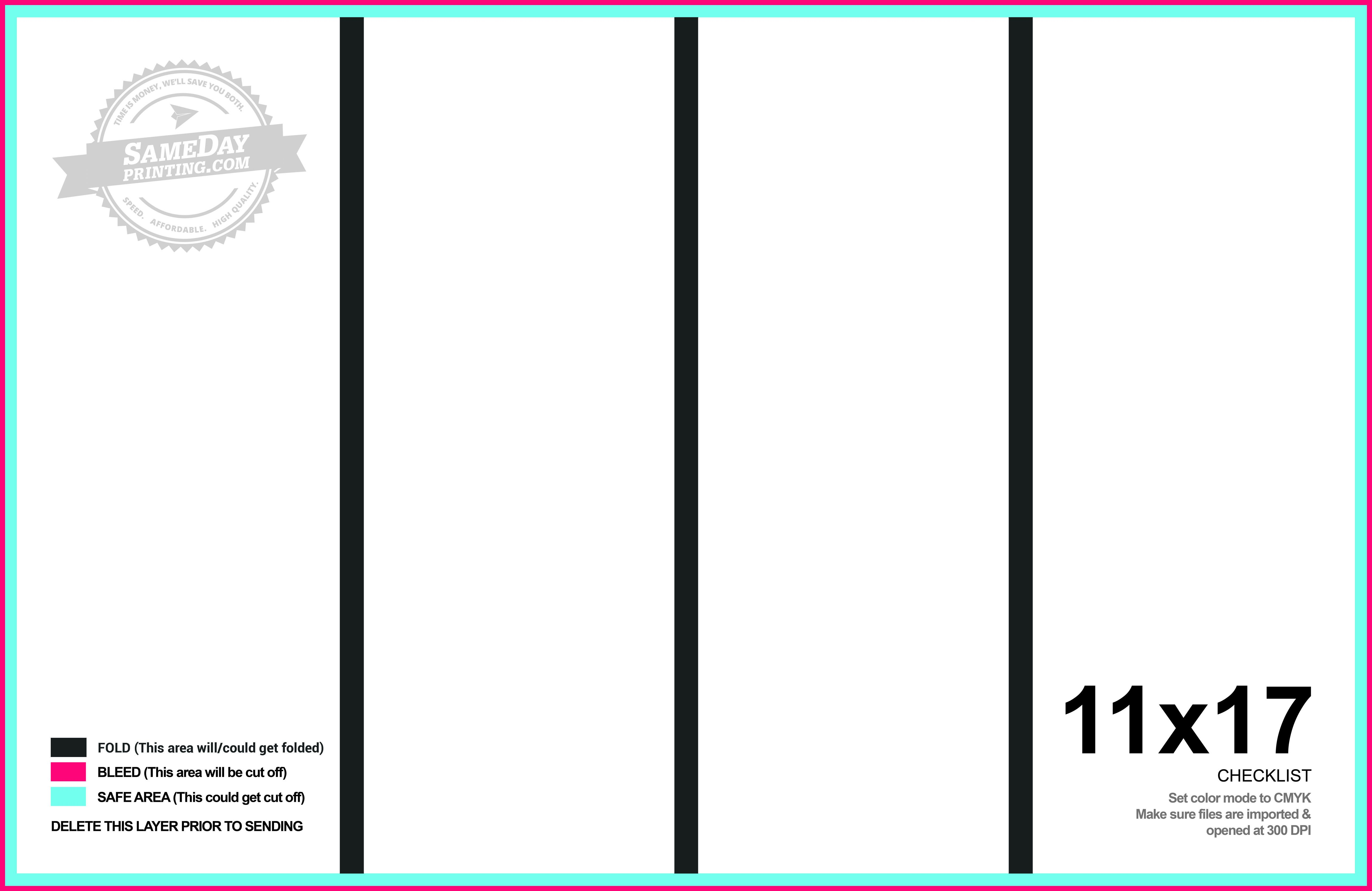 Quad Fold Brochure Template 11x17 Quad Fold Brochure Printing