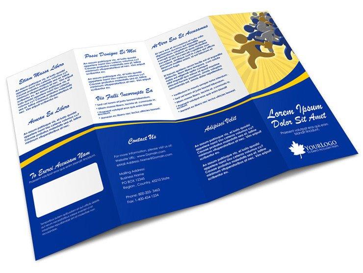 Quad Fold Brochure Template 4 Panel Accordion Brochure Mock Up