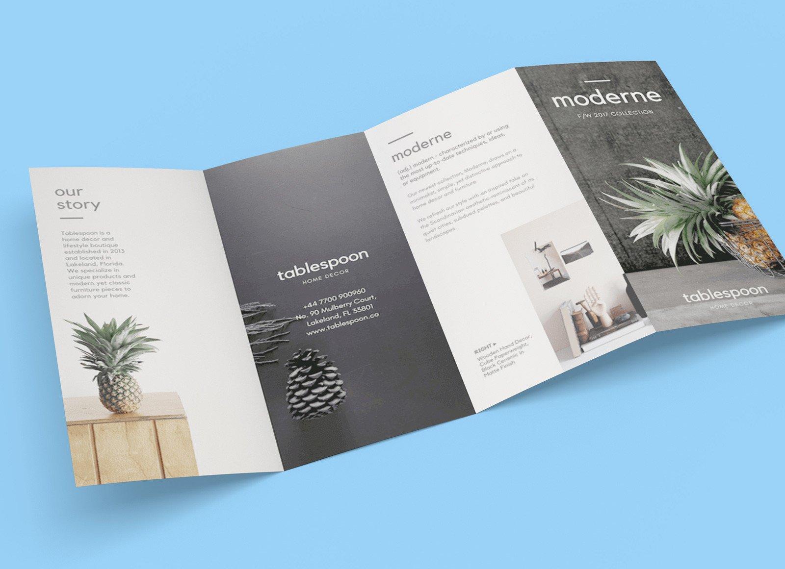 Quad Fold Brochure Template Free 4 Panel Quad Fold Brochure Mockup Psd Good Mockups