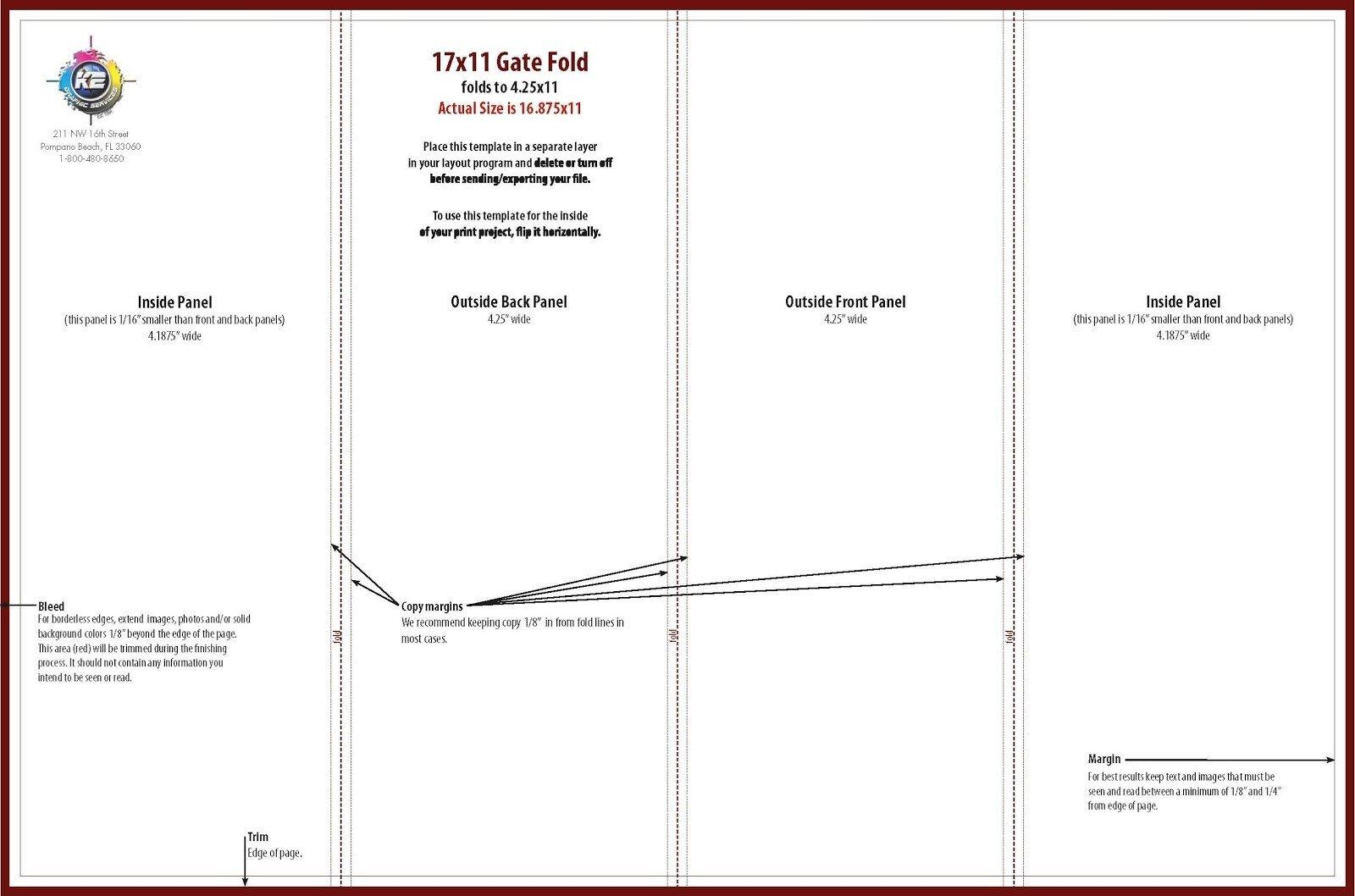 Quad Fold Brochure Template Free Quad Fold Brochure Template Free Download D Templates