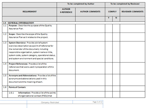 Quality assurance Plan Templates Quality assurance Checklist Template Excel