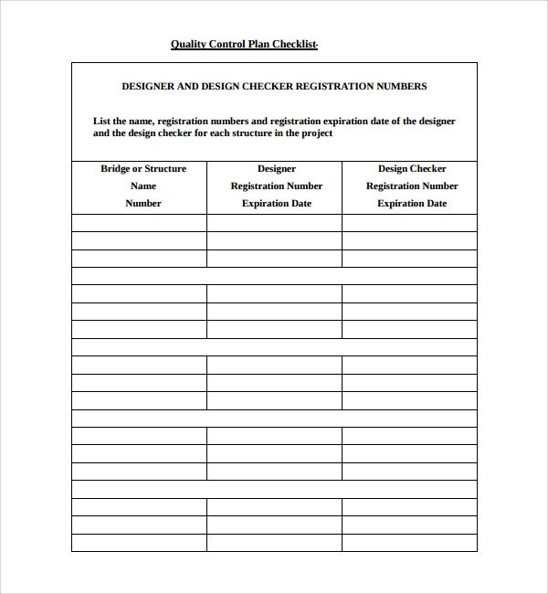 Quality Control Plans Templates Sample Quality Control Plan Template 10 Free Documents