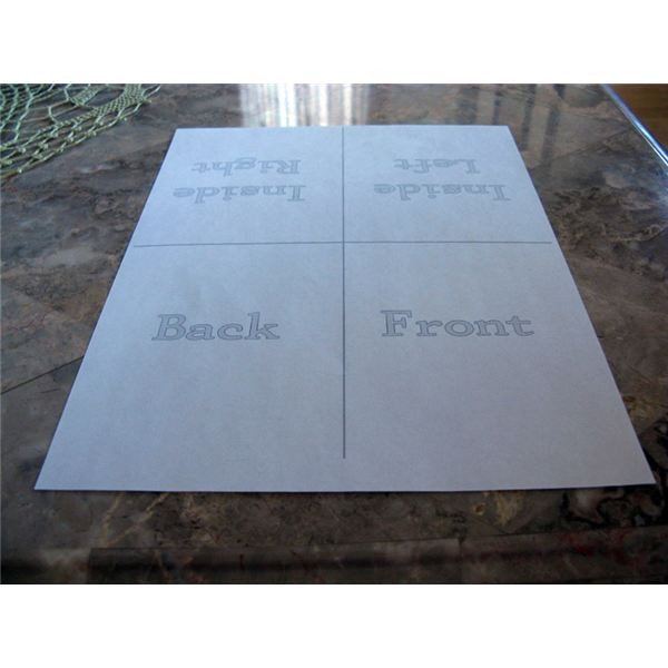 Quarter Fold Card Template Creating Your Own Quarter Fold Printable Cards