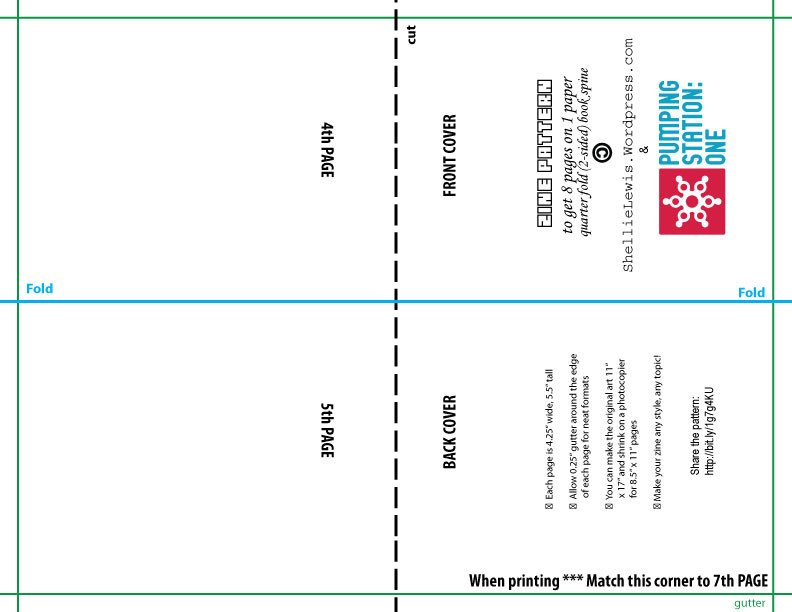 Quarter Fold Card Template Legal & Copyright