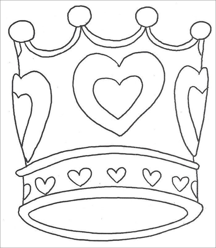 Queen Of Hearts Crown Template Crown Template Free Templates