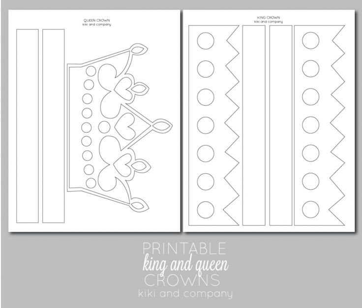 Queen Of Hearts Crown Template Printable Kings and Queens Crown Free Printable