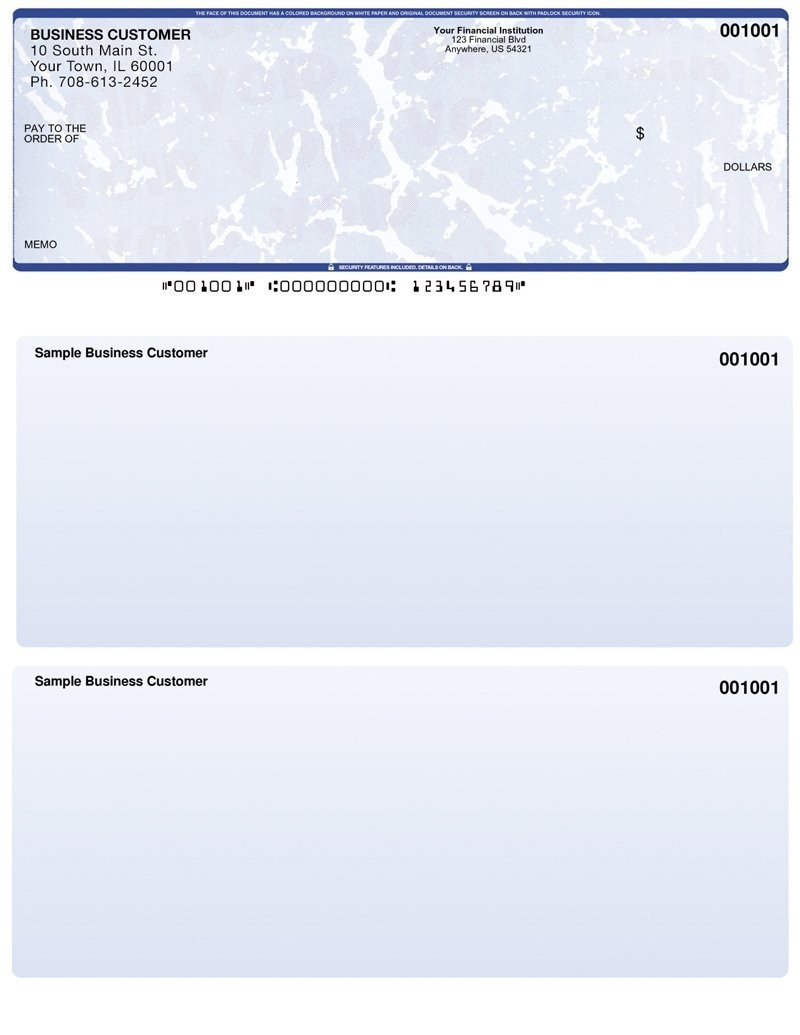 Quickbooks Check Printing Template Business Check Template