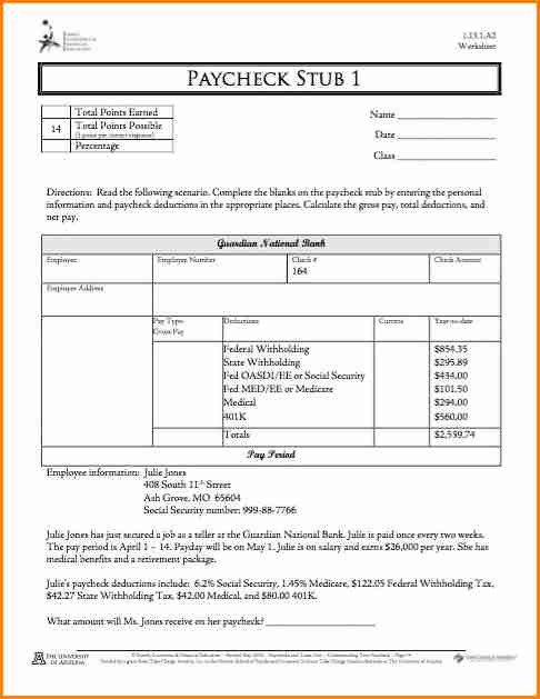 Quickbooks Check Template Word 5 Quickbooks Pay Stub Template