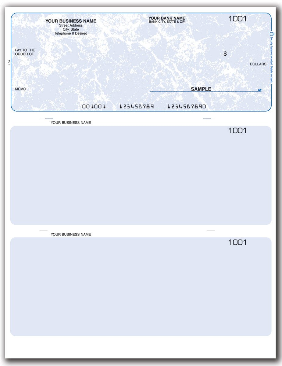 Quickbooks Check Template Word Business Check Template