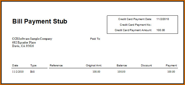 Quickbooks Check Template Word Quickbooks Pay Stub Template – Emmamcintyrephotography
