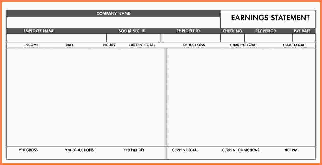 Quickbooks Check Template Word Quickbooks Pay Stub Template