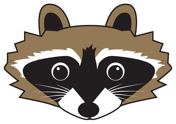 Raccoon Mask Printable 64 Free Kids Face Masks Templates for Halloween to Print