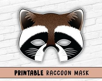 Raccoon Mask Printable Buffalo or Bison Printable Mask Printable Animal Masks