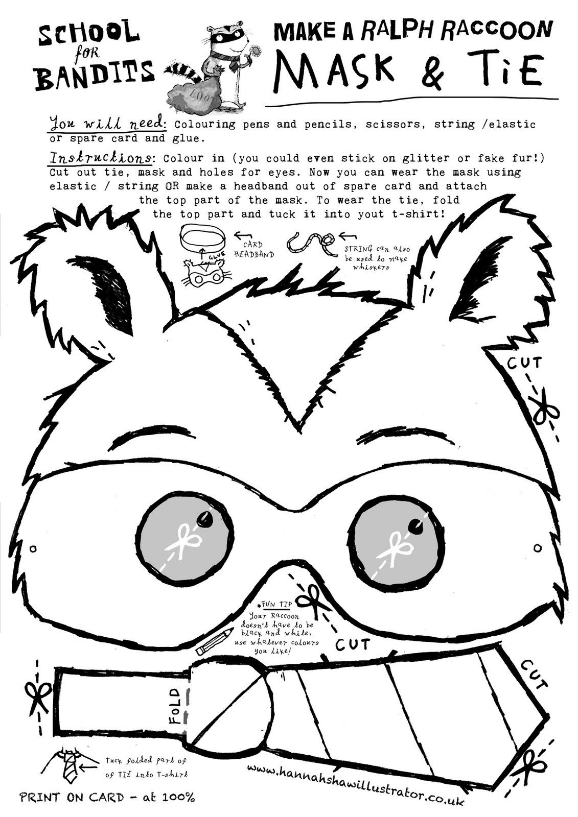 Raccoon Mask Printable Membfounsorag Raccoon Mask Template
