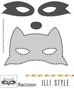 Raccoon Mask Printable Raccoon Mask Printable Template Illistyle