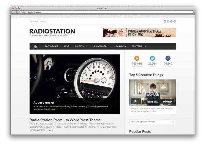 Radio Station Wordpress theme 34 Best Responsive Three Column Magazine Wordpress themes