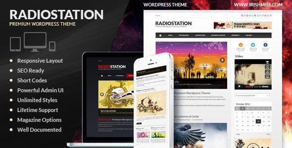 Radio Station Wordpress theme Radio Station – Premium Wordpress theme