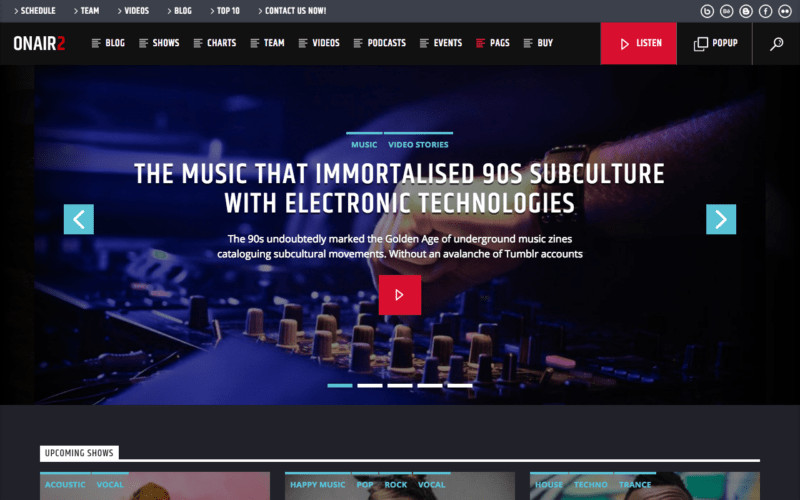 Radio Station Wordpress theme top 6 Best Radio Station Wordpress themes for 2019