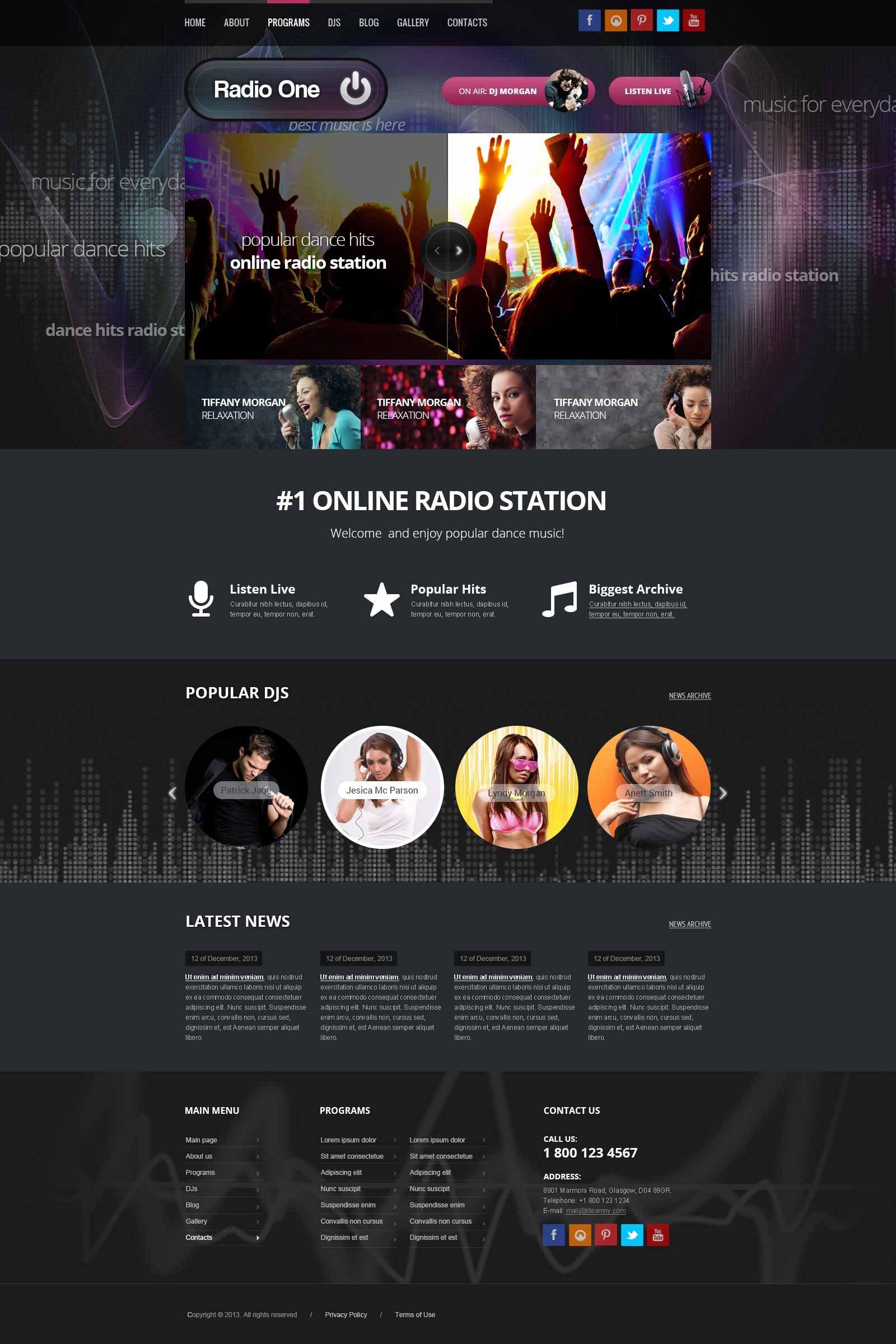 Radio Station Wordpress theme Wordpress Radio Station theme