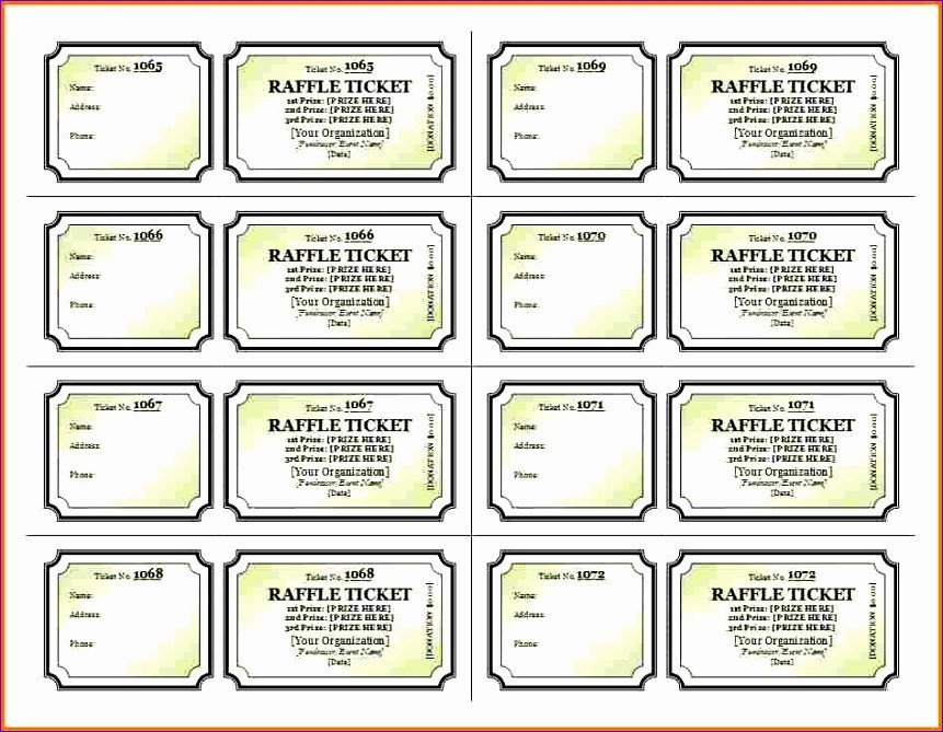 Raffle Ticket Template Excel 8 Daily Timesheet Template Excel Exceltemplates