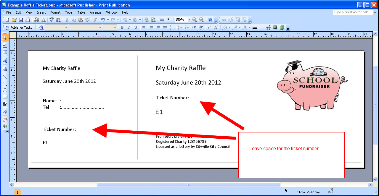 Raffle Ticket Template Excel Raffle Ticket Template Excel