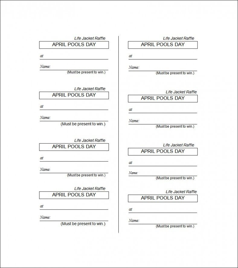 Raffle Ticket Template Google Docs 19 Sample Printable Raffle Ticket Templates Psd Ai