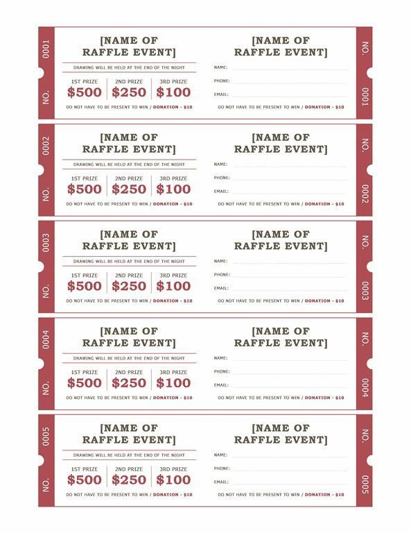 Raffle Ticket Template Google Docs Raffle Ticket format