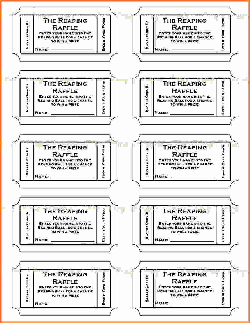Raffle Ticket Template Google Docs Raffle Ticket Template Google Docs