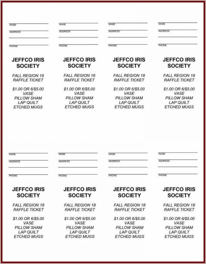 Raffle Ticket Template Google Docs Raffle Ticket Template Google Docs Templates 1 Resume