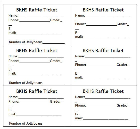 Raffle Tickets Template Word 36 Printable Ticket Templates Psd Ai Word
