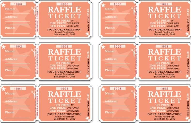 Raffle Tickets Template Word Raffle Ticket Templates Word Templates Docs