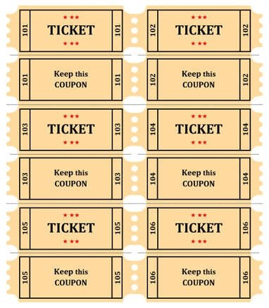 Raffle Tickets Template Word Raffle Tickets Template