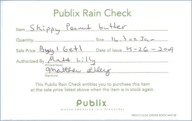 Rain Check Images How to Use A Rain Check Faithful Provisions